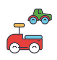 toys cars concept line icon editable vector image vector image