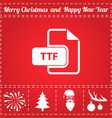 ttf icon vector image vector image