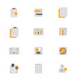 user interface pictograms vector image