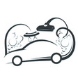 washing and cleaning car symbol vector image vector image