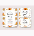 wedding invitation invite thank you card vector image