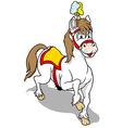 White Circus Horse vector image