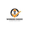 worker choice logo designs modern vector image