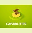 capabilties isometric icon isolated on color vector image
