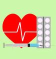 medicine for stimulation of heart vector image