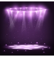 Stage with Spotlights and Spark Rain vector image