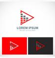 triangle level bar business logo vector image