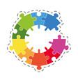 puzzle solution diagram image vector image