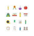 Modern flat icon collection on vector image