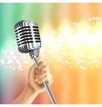 Vintage Microphone Light Background Poster vector image