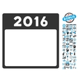 2016 Year Calendar Page Flat Icon With vector image vector image