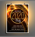 2020 new year shiny party event flyer design vector image vector image
