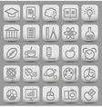 25 school and college buttons with icons vector image vector image