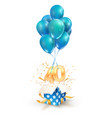 40th years celebrations greetings forty vector image vector image