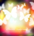 Abstract summer background with butterflies vector image