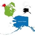 Alaska map vector image vector image