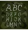 alphabet written on chalk board design vector image