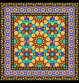 Arabic stained glass ornament vector image