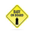 baby on board traffic vector image