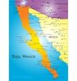 baja california vector image