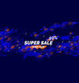 banner for sale original poster discount vector image vector image