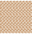 beige and brown ceramic tile mosaic pattern vector image vector image