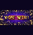 big win jackpot vector image vector image