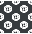 Black hexagon medicine pattern vector image