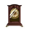 brown retro clocks and glass vector image vector image