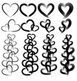 brushes hearts vector image