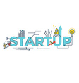 business startup word design vector image vector image