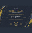 certificate template with luxury golden elements vector image