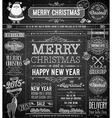 chalk xmas labels vector image vector image