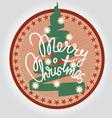 Christmas tree print vector image vector image