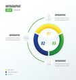Circle infographic green blue yellow vector image vector image