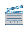 clapboard movie isolated vector image vector image