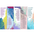 Collection abstract banners with place for your vector image vector image