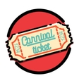 Color vintage Amusement park emblem vector image vector image