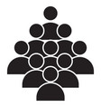crowd people icon vector image