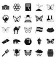 crum icons set simple style vector image vector image