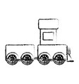 cute train toy icon vector image vector image