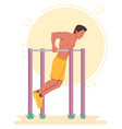 dips calisthenics bodyweight exercise vector image