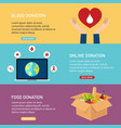 donation concept blood online and vector image