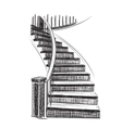 Drawn Staircase Sketch vector image