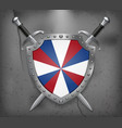 dutch flag the prinsengeus the shield with vector image vector image