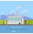 Ecology Factory Web Banner Eco Manufacturing vector image vector image