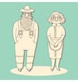 Elderly couple Grandparents vector image
