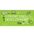 Front end Development Banner Concept vector image vector image