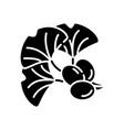 ginkgo biloba black glyph icon vector image
