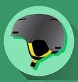 grey ski helmet vector image